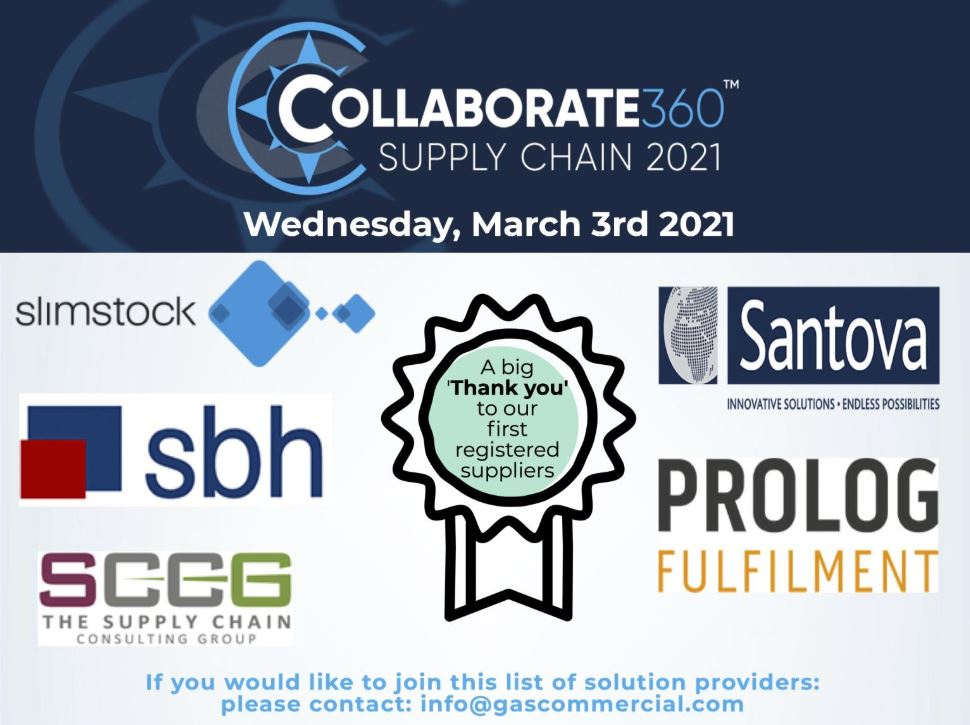 Collaborate360 Supply Chain 2021 with Prolog as a Confirmed Supplier